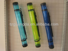 Transparent colorful plastic drawing tube