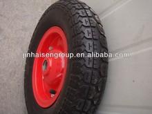 3.50-8 wheelbarrow tire 400mm wheelbarrow rubber wheels big wheel wheelbarrow