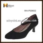 Minyo Black Office Lady Shoes Work Shoe Low Heel Comfort