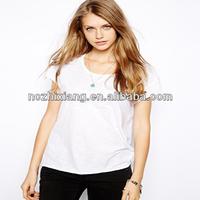 ladies round neck import blank t shirts