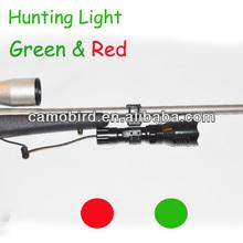 HLG-001 IP66 Waterproof Adjustable CREE Q5 LED Bulb Green Light Torch Tactical Flashlight