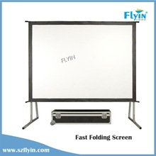 FLYIN 16:9 4:3 Suited to big group events curved Projector Screen Fast Fold Screen 300 projector screen