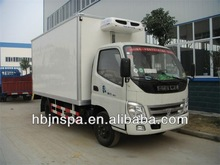 new product FOTON 3ton refrigerator box van truck for sale
