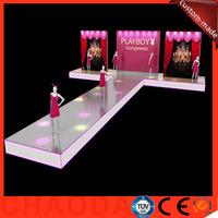 7.32X14.64m portable aluminum catwalk fashion show stage decorations
