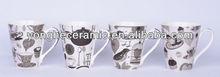 11oz popular designed ceramic coffee mug espresso coffee cup Hunan ceramic factory