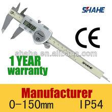 "IP54 0-150mm 6"" high quality waterproof digital vernier caliper"