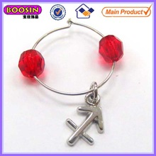 Wedding metal constellation wine charm/beads wine glass charm with competitive factory price #14240