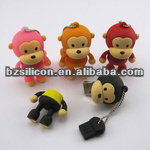 Monkey shape usb flash drive best gift for friends pvc usb memory