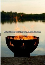 high quality carbon steel fluer-de-lis outdoor fire pit