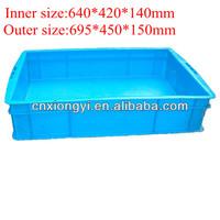 Plastic seafood crate