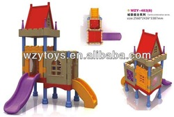 Outdoor Plastic Playground Equipment and Cubby House for Kids