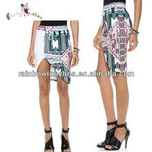Latest Design Fancy Sexy Lady Asymmetrical Wrap Skirt
