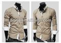 100% moda últimas design casual alta colar mens camisas