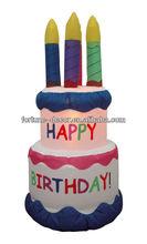 180cmH/6ft Everyday design decoration giant inflatable birthday cake
