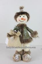 Christmas snowman decoration/2014 newest producion/indoor/outdoor ornament/foam snowman/grass snowman