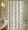 cuarto de baño estándar de tamaño de la ventana hookless impresa cortina de la ducha