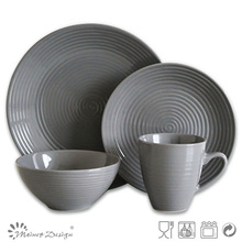 16pcs emboss ceramic Stoneware dinnerware,Stoneware tabletop ware,emboss dinnerware