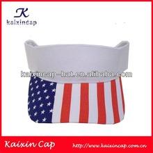 High quality cheap wholesale custom printed sun visor cap