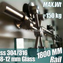 Stainless steel 304 glass sliding door and hardware, barn door hardware, stain