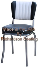 American Chrome Retro Diner Chair with two tone back and watefall seat