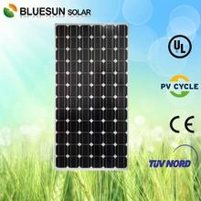 Bluesun best selling good price mono pv solar panel 205w power tolerance 0~+3%