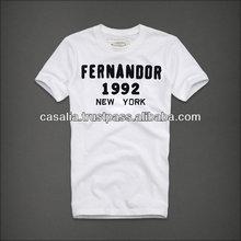 Fashion Men Cotton/PE O-neck Tshirt
