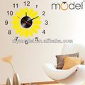 Güneş şeklinde için duvar saatleri yatak odası/güzel güneş çiçek duvar saatler/küçük dijital sticker duvar saatleri