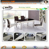 2014 modern round wooden dining table designs D204A#