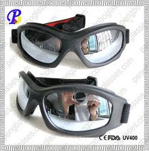 Black Frame Clear Lens Motorcross Goggles