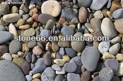 mixed color natural river pebbles names of paving stones