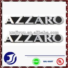 Fashion embossed aluminum metal nameplate