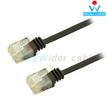 5 ft CAT6 250 MHz Flat Patch Cable Black For Computer