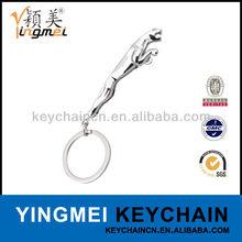 Y02413-1 2014 beautiful metal jaguar key chain