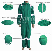 hot! OEM services wholesale FR finishing 100 % cotton material fire retardant mine safety clothing from china