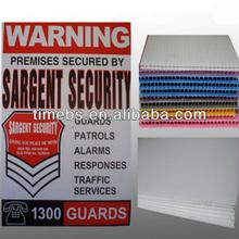 High quality Corrugated Plastic 12 x18 Yard Sign Sheet