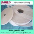 Poids léger 100% sangle de coton stretch tissu ruban