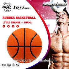 full orange basketball, new rubber foam for super grippy