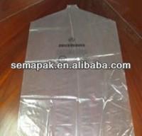 wholesale customized plastic suit garment bag ,plastic suit cover,Transparent suit bag