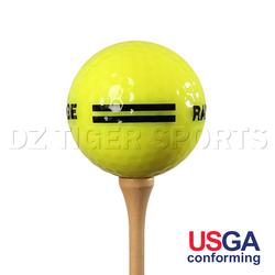 custom logo yellow range ball