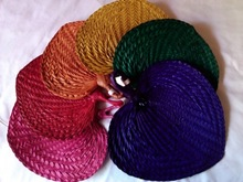 raffia natural fan