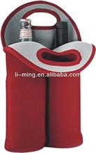 2014 new style fashion promotional custom neoprene bottle wine tote bags