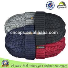 2014 cable knit beanie crochet color beanie hat ski knit black wool Twist hat