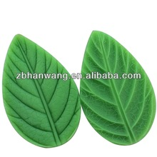 Q0010 leaf shape silicone push molds for fondant icing cake decoration
