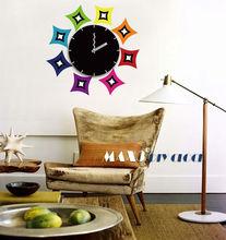 Factory Direct-Sale Family Sun Shape Stylish Diy Wall Clock For Wholesale