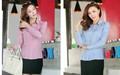 caliente venta de nuevos formal las mujeres blusa de rayas clásico señora de la oficina de la camisa