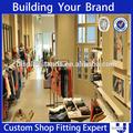 2014 caliente vender ropa de hombre de exhibición de madera con muebles de iluminación led para tienda al por menor