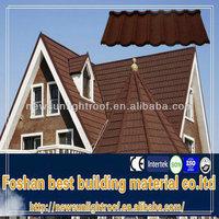 metal building material cheap asphalt shingles/stone coated metal used metal roofing sale/colour stone coated metal roofing tile