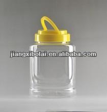 square clear plastic storage jars