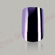 Elegant fake nail purple metallic nail art