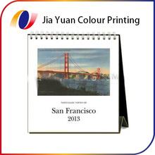 2015 custom promotional table desk wall calendar printing China mainland